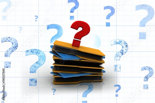 3d rendering file folder with question symbol Canvas-taulu