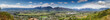 canvas print picture - Panoramic view over the town of Paarl in the Western Cape of south africa