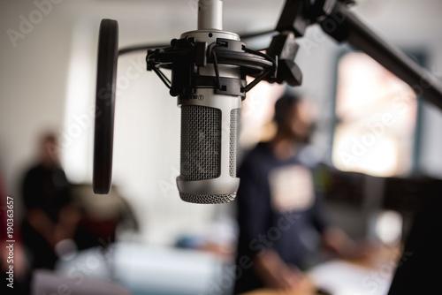Mikrofon Radio Microphone Broadcast Tapéta, Fotótapéta