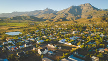 Aerial View Over The Small Town Of Ladysmith In The Western Cape Of South Africa