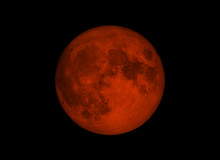 Blood Moon Or Super Moon Conce...
