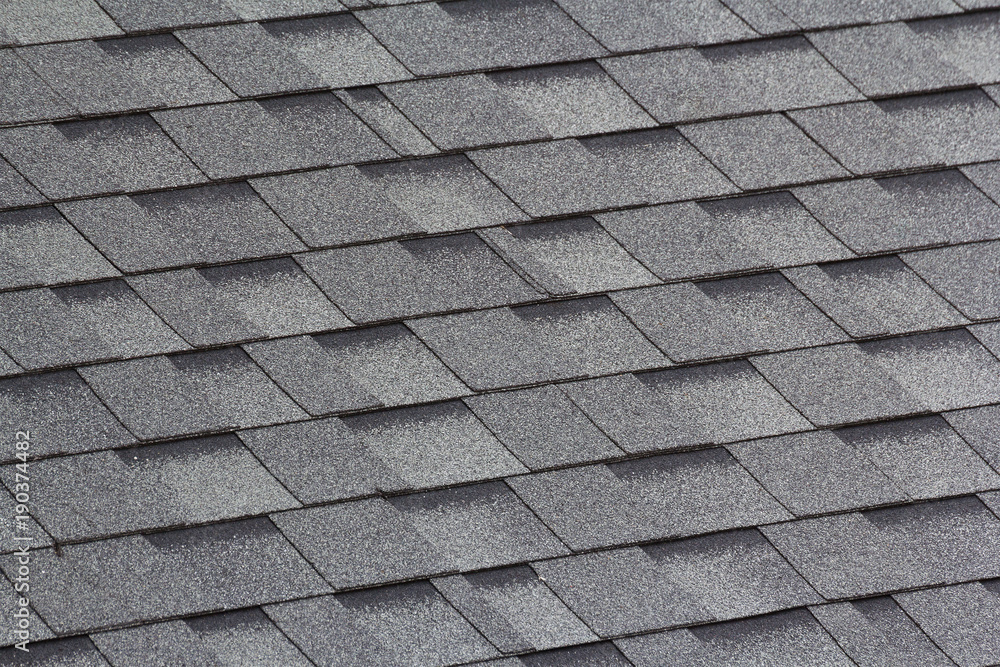 Fototapety, obrazy: grey and black roof shingles