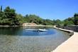 peaceful place Punta Kriza on the island Cres, Croatia