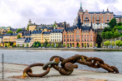 Staande foto Stockholm Stadthäuser in Stockholm