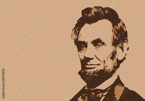 Photo  Lincoln - président des États Unis - portrait - personnage historique - personna
