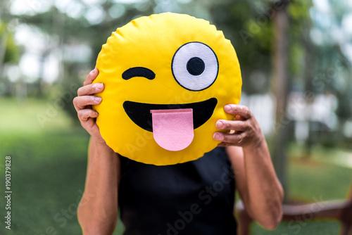 Fotografia  Woman Showing a Funny Emotion Face