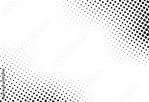 Abstract monochrome halftone pattern Canvas Print