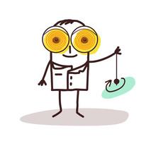 Cartoon Hypnotist Doctor With ...