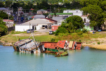 Two Wreched Boats From Hurricane Irma