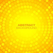 Abstract Orange Circular Technology Background. Vector Illustration.
