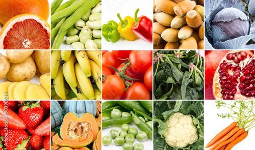 Meyve Ve Sebze Kolajı © Esin Deniz