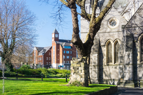 Photo  Christ Church Cathedral,landmarks of Dublin Ireland