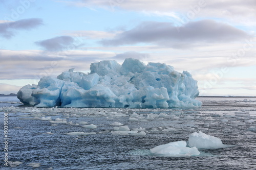 Deurstickers Poolcirkel Melting iceberg in Arctic ocean