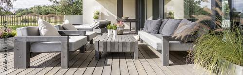 Foto Wooden terrace in residence