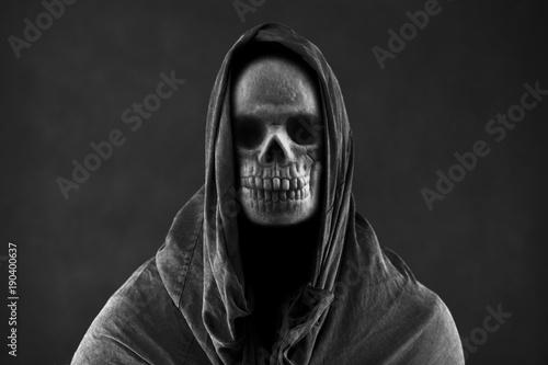Photo  Grim reaper in the dark