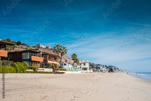 Malibu et ses maisons sur la plage Canvas Print