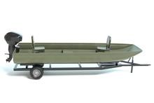 3d Illustration Of A Jon Boat