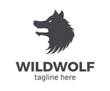 Wild Wolf Logotype. Vector Des...