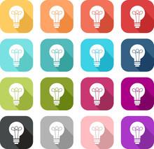 Icône Colorée D'une Ampoule ...
