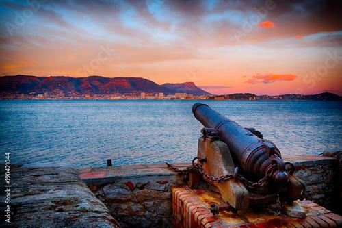 Photo Coucher de soleil sur la rade de Toulon depuis le Fort Balaguier à La Seyne-sur-