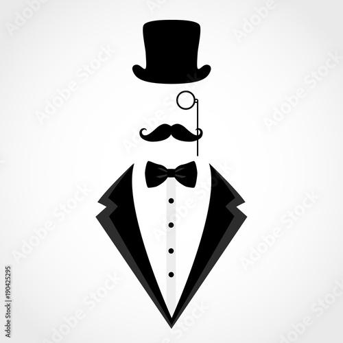 Obraz na plátně Suit icon isolated on white background.