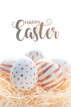 Happy Easter Postcard Banner. ...
