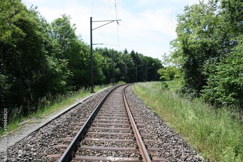 Staande foto Spoorlijn Eisenbahnstrecke Streckenführung Strecke