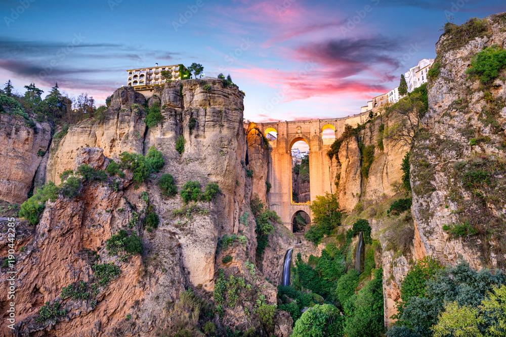 Fototapety, obrazy: Ronda Spain Puente Nuevo Bridge