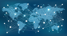 Worldwide Network Concept - Data, Management, Analysis & Resources: Vector Illustration