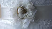 Wedding Dress Details Close Up 4k
