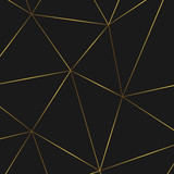 geometric abstract pattern with golden lines. Template for  birthday, wedding, anniversary,  business cards design - 190466426