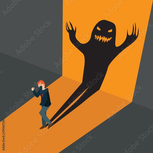 Photo business afraid frightening shadows