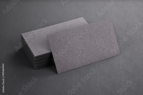 3d rendering of business card blank template black business cards 3d rendering of business card blank template black business cards on black background flashek Gallery