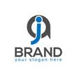 JA, Letter J and A, Logo Design Element