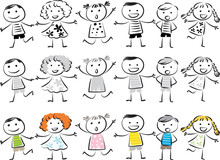 Kids Sing Song With Music Note