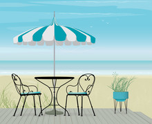 Summer Scene Bistro Table And ...