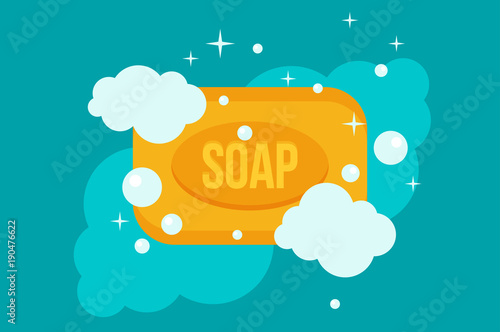 vector cartoon flat style rectangular soap vector icon buy this stock vector and explore similar vectors at adobe stock adobe stock vector cartoon flat style rectangular