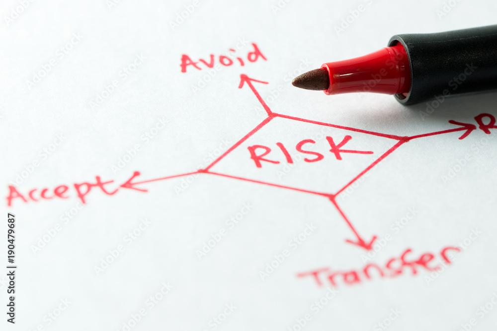 Fototapeta Risk management diagram