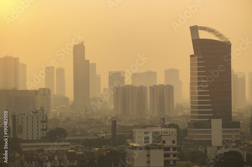 Jakarta city skyline Canvas Print