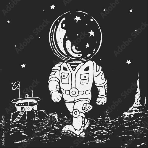Astronaut Going On A Planet © joebakal