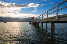 Sunset View Of Wooden Pier In ...