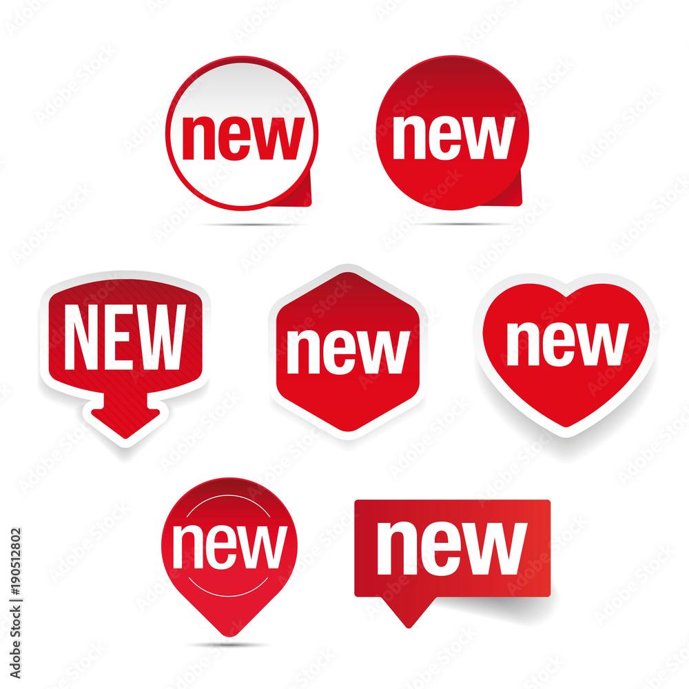 Fototapety, obrazy: New label set sticker