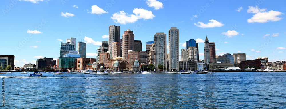 Fototapety, obrazy: Boston Skyline Panoramic