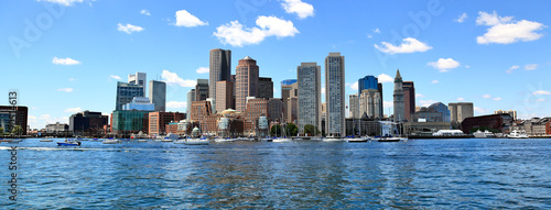 Leinwand Poster Boston Skyline Panoramic