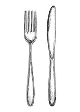 Sketch Fork And Knife Cutlery ...
