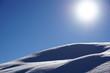 canvas print picture - Schneehügel vor der Wintersonne, Tirol, Austria