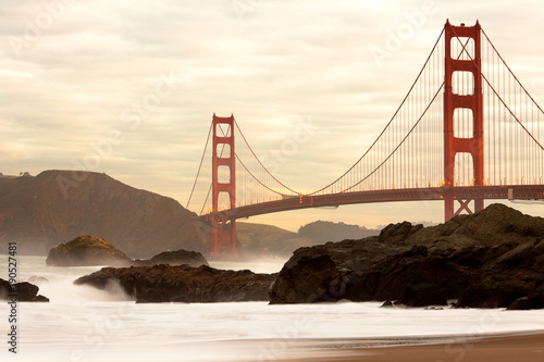 Tuinposter San Francisco Golden Gate Bridge from Baker Beach, San Francisco, California, USA