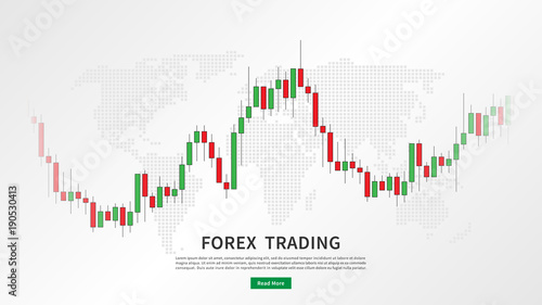 Stock market candlestick chart with world map vector illustration stock market candlestick chart with world map vector illustration green and red japanese candle bars gumiabroncs Choice Image