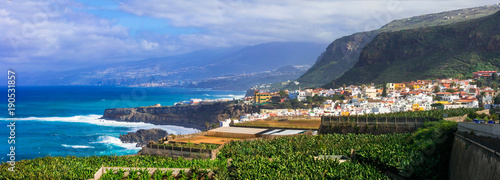 Tenerife island - beautiful coastal town San Juan de la Rambla. Canary islands