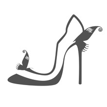 Logo Of Women's Shoes With Tra...
